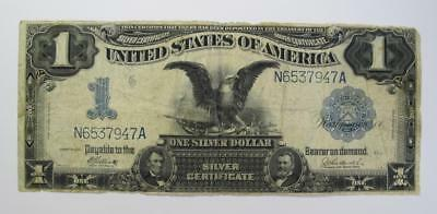 "Series 1899 $1 Historic Silver Certificate ""Black Eagle Note *  N6537947A"