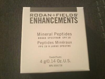 59e8913e14a Rodan + Fields Enhancements Mineral Peptides Loose Powder SPF 20 Medium Exp  5/19