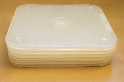 6 CD DVD Disc Savers Jewel Cases by Dering DISCSAVER • Clear Poly • Made in USA