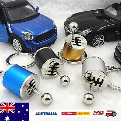 Keychain Ring Fob Creative Car 6Speed Gearbox Gear Shift Racing Tuning WQ