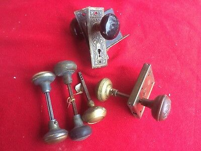Antique Brass Door Knob  Locks lot vintage rare