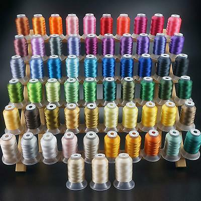 New brothread 63 Brother Colors Polyester Embroidery Machine Thread Kit 500M (55
