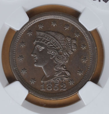 1852 Large Cent nice...NGC MS63BN