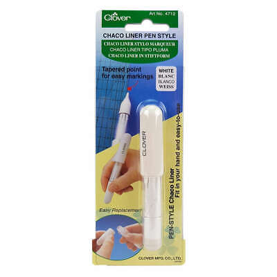 Clover Chaco Liner Pen Style WHITE Tracing Marking Sewing Craft DIY