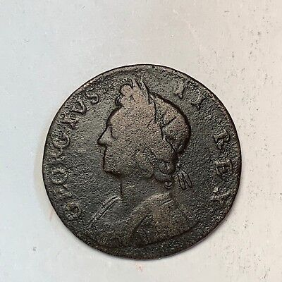 1731 Half Penny George Ii Great Britain - Nice! Must Take A Look!!  [Fc2]