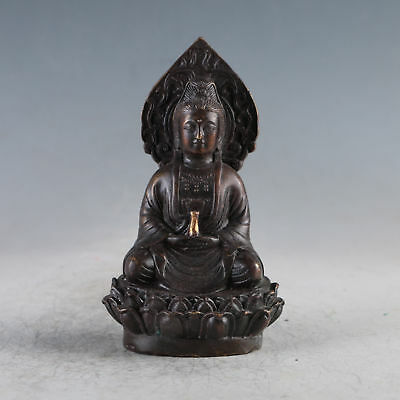 Chinese Ancient Gilt Copper Kwan-yin Made During The DaMing XuanDe HLJ0017+a