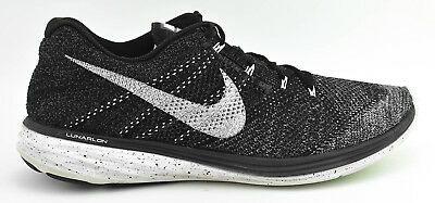 Mens Nike Flyknit Lunar 3 Running Shoes Size 15 Black White Oreo 698181 010 cfbeb9208