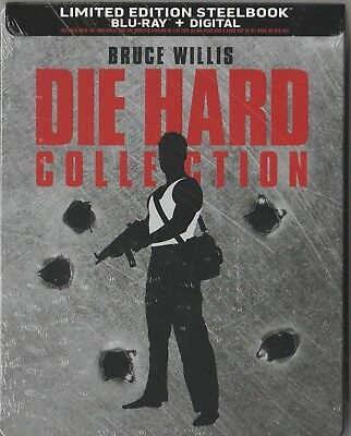 Die Hard 5-Movie Collection (Blu-ray + Digital, Limited Edition Steelbook) NEW.