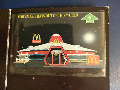 Mint UK BT McDonalds Spaceship Restaurant Phonecard Pack
