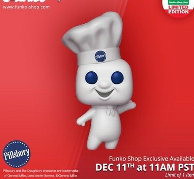 Funko POP! Pillsbury Doughboy 12 Days of Christmas Exclusive In Hand
