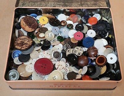 Collection Of Assorted Vintage Buttons In Macrobertson's Tin Deceased Estate