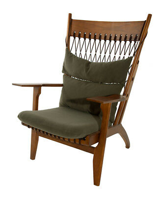 Classic Retro Mid-Century Danish Design Natural Timber Walnut Arm Chair
