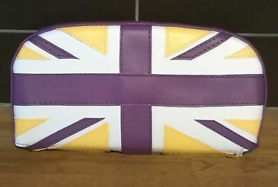 Purple/Yellow/White Union Flag Scooter Back Rest Cover (Purse Style)