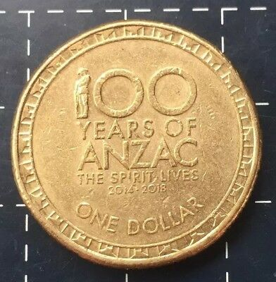 2015 Australian $1 One Dollar Coin - 100 Years Of Anzac The Spirit Lives