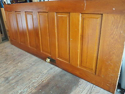 Antique Victorian Interior Six Panel Oak Door in Excellent Condition, 30""
