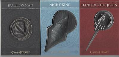 Game of Thrones Valyrian Steel Hand Queen H8 / Night King H9 / Coin H10 Pin Set