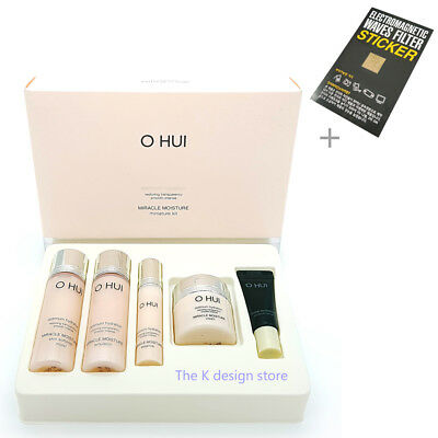 O HUI Miracle Moisture Miniature Kit 5 items-Skin+Emulsion+Essence+Cream+Ampoule