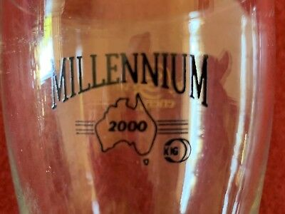 Midi Glass Millenial 2000 Genuine Pub Glass Free Post