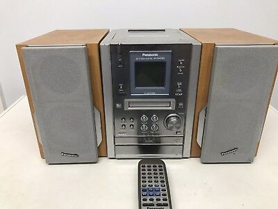 PANASONIC MIN DISC STEREO SYSTEM SA-PM37MD, With Remote control