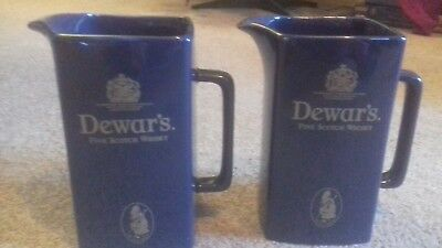 Pair Of Wade Pottery Dewar's Whisky Jugs