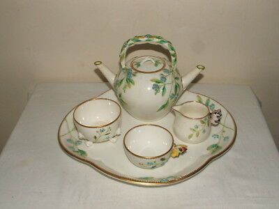MINTONS VINTAGE BUTTERFLY HANDLED 1850s  CABARET SET TRULY  STUNNING