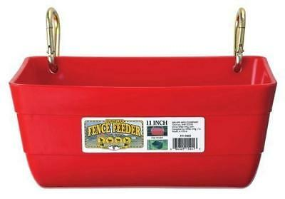 Little Giant Fence Feeder with Clips, 11-Inch, Red