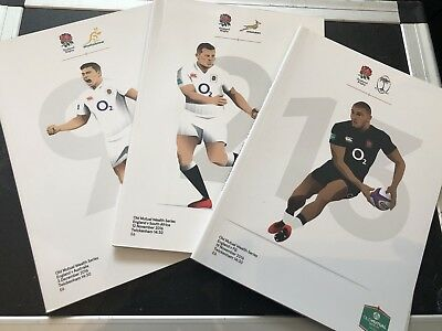 Official England Rugby Autumn International Official Programme bundle 2016
