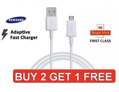 Samsung 1M Fast Charger Micro USB Data Cable Lead For S3 S5 S6 S7