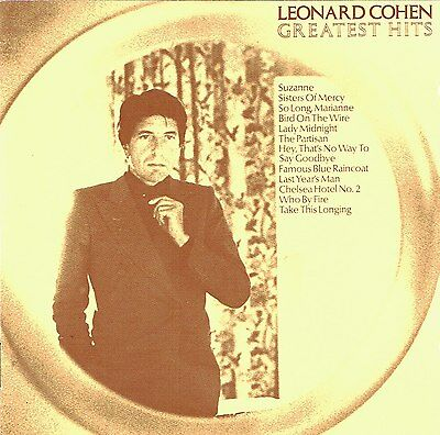 (CD) Leonard Cohen -Greatest Hits - Suzanne, So Long, Marianne, Sisters Of Mercy