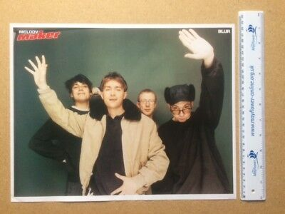 BLUR Original Vintage Melody Maker Newspaper Poster Print