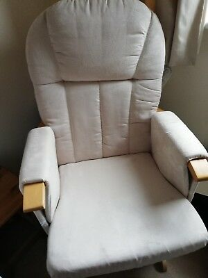 Mothercare natural nursing reclinable glider chair and stool in excellent...