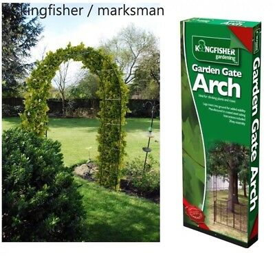 2.4M Garden Arch Climbing Plants Roses Metal Archway Trellis Self Assembly High