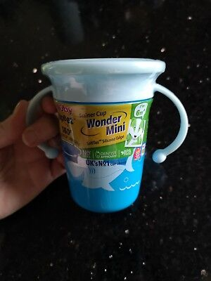 Nuby 360 Sipeez Baby Wonder Mini Trainer Cup With Handles blue shark Design