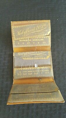 Very Rare Vintage Or Antique Kirby Beard And Co Ltd Folding Leather Sewing Case