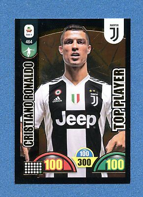 CALCIATORI 2018-19 -Adrenalyn Panini- Card TOP PLAYER n. 464 - RONALDO -JUVENTUS