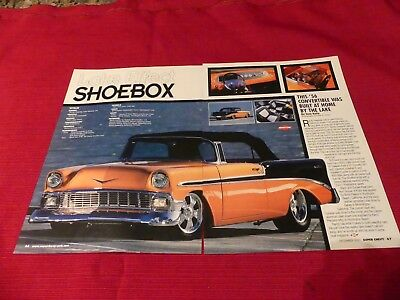 1956 Chevy Bel Air convertible car  Original 2001 2-page article Great to frame
