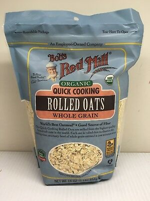 4 pack of Bob's Red Mill Organic Quick Cooking Rolled Oats Whole Grain - 16 oz