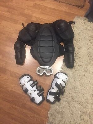 Motocross Armour, Shin Pads And Goggles Xl 🏍