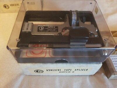 CIR CATOZZO SUPER-8mm TAPE FILM SPLICER EXC. WITH INSTRUCTIONS AND LEADER