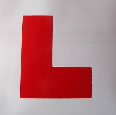 Budget Self-adhesive Learner L-Plate 13-Pack 175mm x 175mm VE17130-13