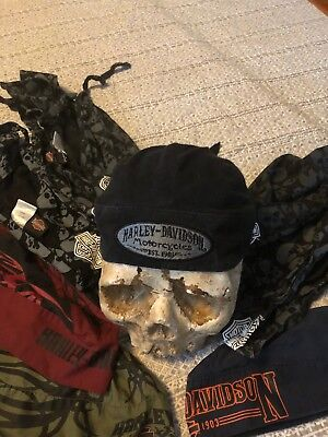 Licensed HARLEY DAVIDSON Doo Rags very good condition multi fit