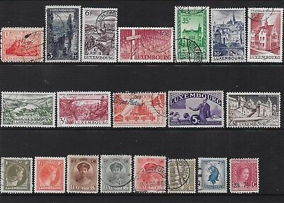 Luxembourg 1921-1950 Collection (20 stamps) - dw984h