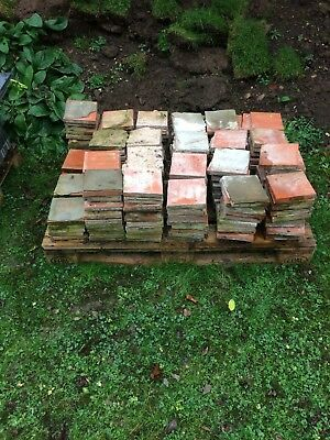 "200 Reclaimed Quarry Tiles 6"" x 6"" x 1"" (price is for all 200)"