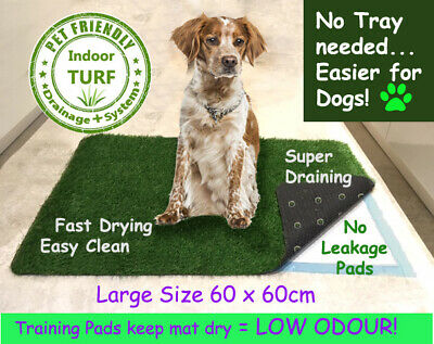 Large EASY LOO Indoor Grass Pet Toilet Potty Mat + Training Pads for Dog Puppy