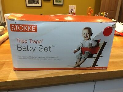 Stokke Tripp Trapp Baby Set Red Used Very Good Condition