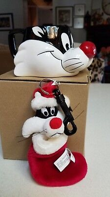 Looney Tunes SYLVESTER mug and stocking clip