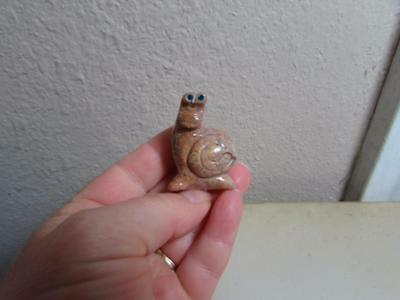 Sea Snail, Hand carved Stone from the Andes. Miniature stone Sea Snail Unique