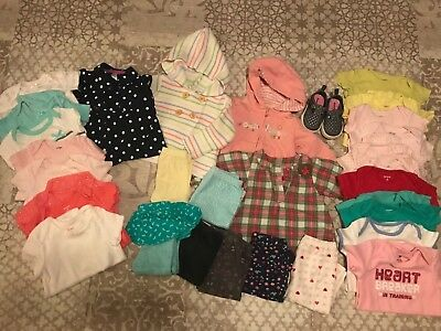 9fb8f3eff BABY GIRL CLOTHING Lot 9-12M Dresses Leggings Shirt Carters Oshkosh ...