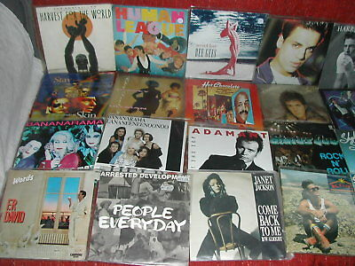 "Job Lot 175 X 7"" 1980's All Stunning In Picture Bags/plastic Wallets - Free Post"