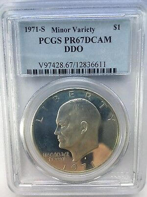 1971 S Eisenhower IKE PCGS PR 67 DCAM CAMEO DDO Dollar Deep Mirror Proof